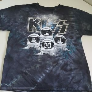 3/$15 KISS Space Astronaunt 2017 Tie Dye Shirt